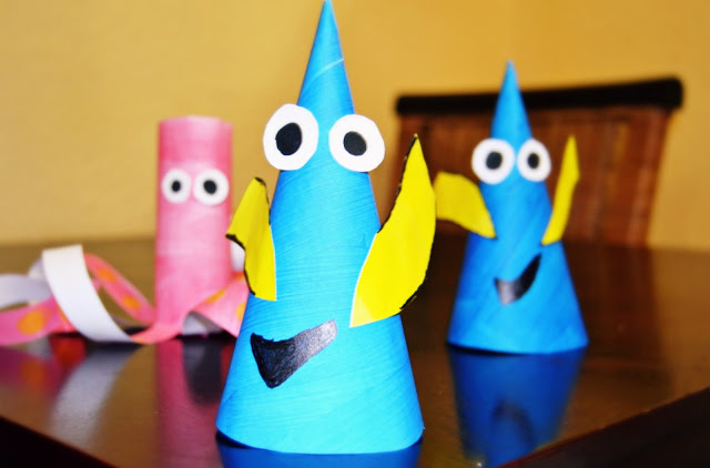 Very easy Kid friendly Finding Dory Crafts